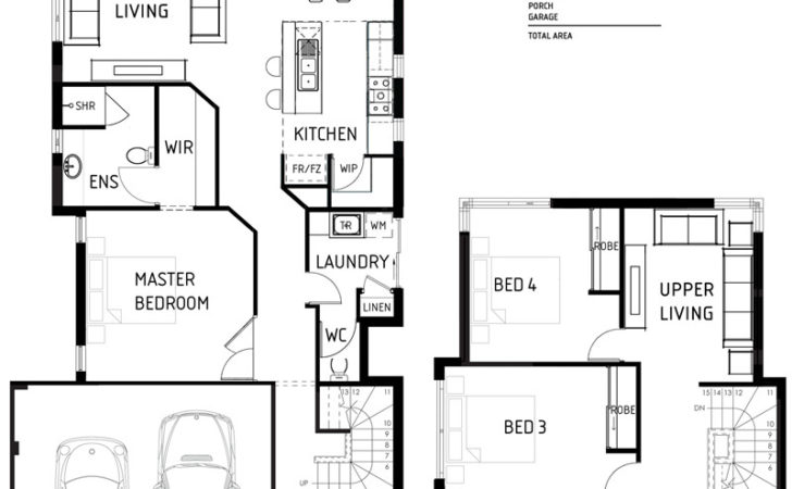 Small Double Storey House Plans Modern
