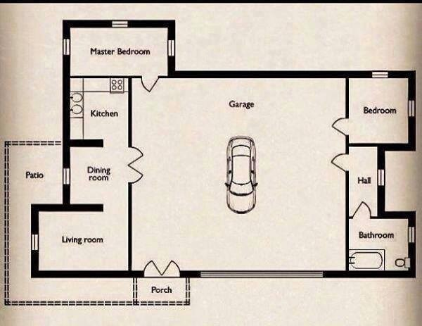 Small Home Big Garage Floor Plan