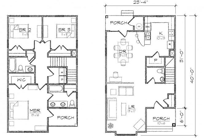 Small Home Plans Bedrooms Cottage House