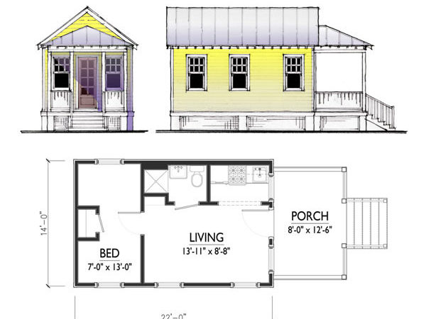 Small Home Plans One Story Cottage House