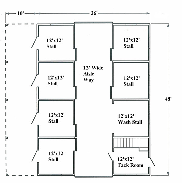Small Horse Barn Floor Plans Find House