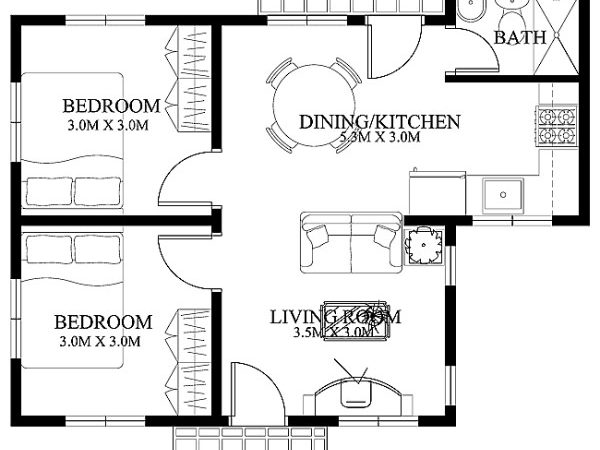 Small House Designs Floor Plans Lay