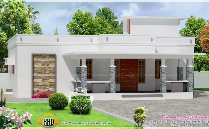 Small House Elevation Rendering Drawing