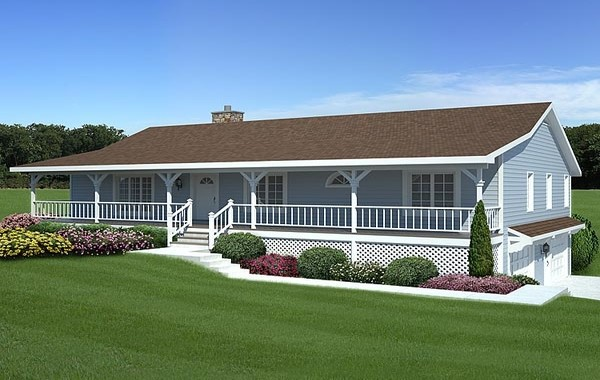 Small House Ranch Style Porch Plans