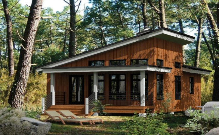 Small Modern Cabins Contemporary Cabin House Plans