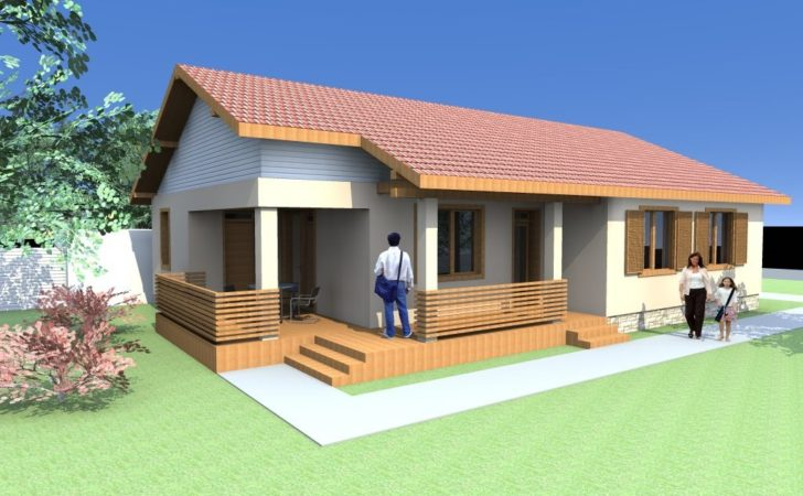 Small One Floor House Plans Cabin Houses Archicad