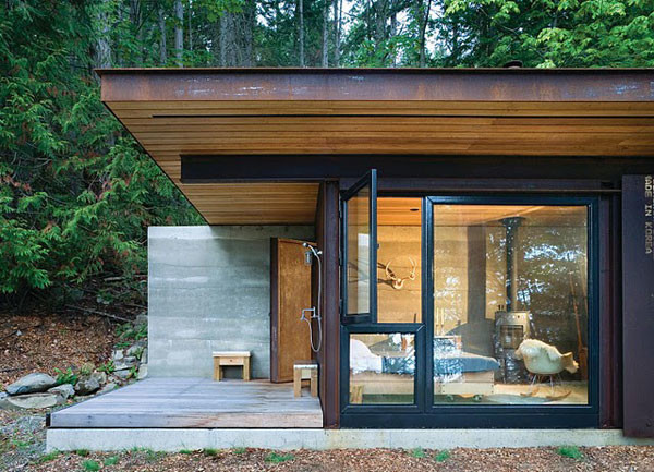 Small One Room House Located Woods Modern