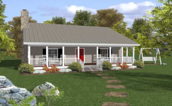 Small Ranch House Plans Porch Open Style
