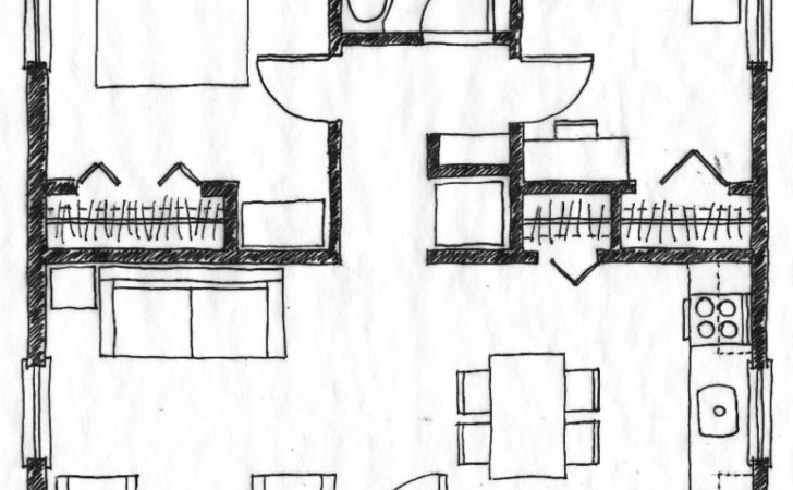 Small Two Bedroom House Floor Plans