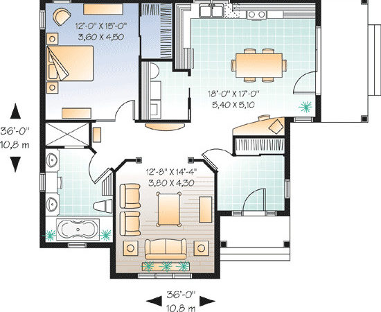 Smart Way Designing One Bedroom Home Plans