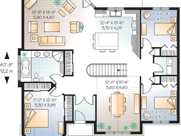 Southern Ranch Architectural Designs House Plans