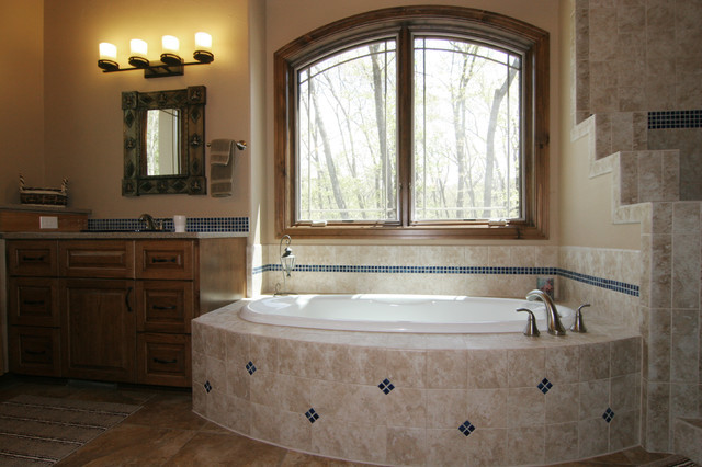 Southwestern Style Home Traditional Bathroom Grand