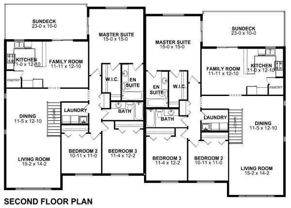 Spacious Side Duplex House Plan Hunters