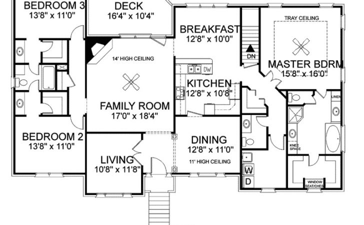 Split Floor Plans Four Bedroom Triple House
