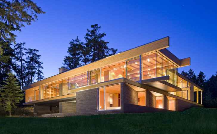 Sprawling Multifaceted Canadian Home Features Glass All