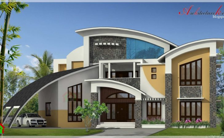 Square Feet Contemporary Style House Elevation