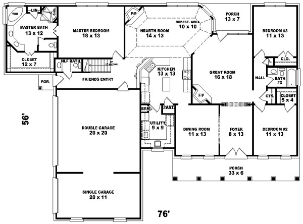 Square Feet House Plans Design Ideas