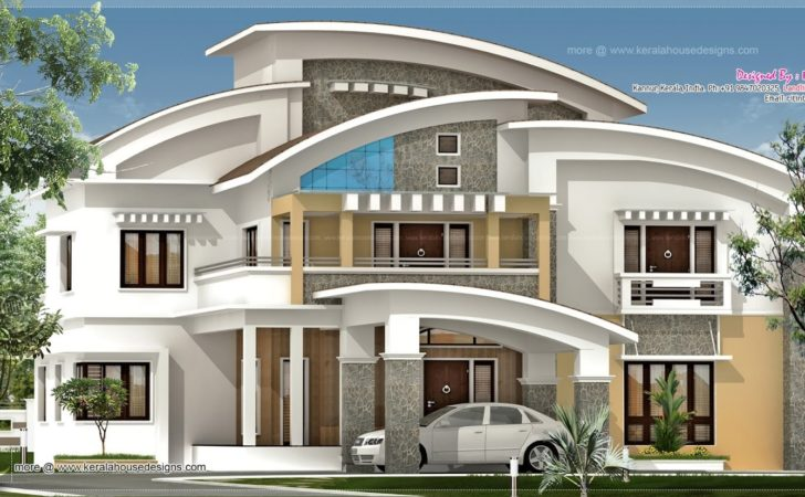 Square Feet Luxury Villa Exterior House Design Plans