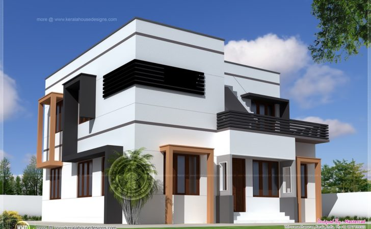 Square Feet Modern Villa Exterior Home Kerala Plans