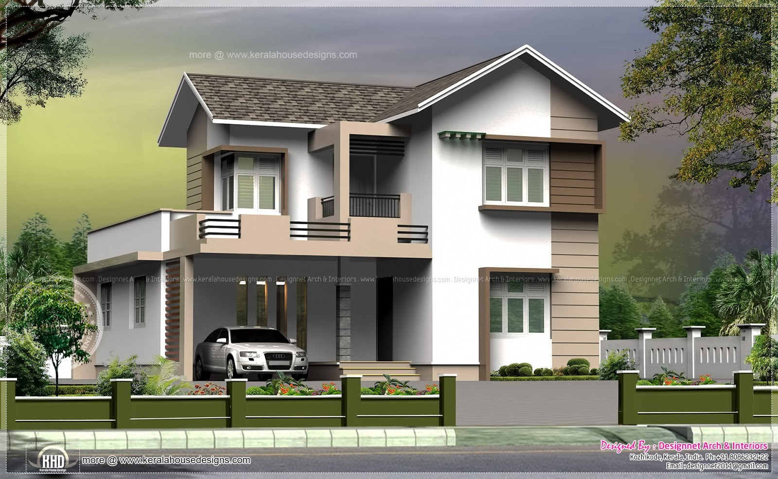 Square Feet Small Villa Cent Plot Home Kerala