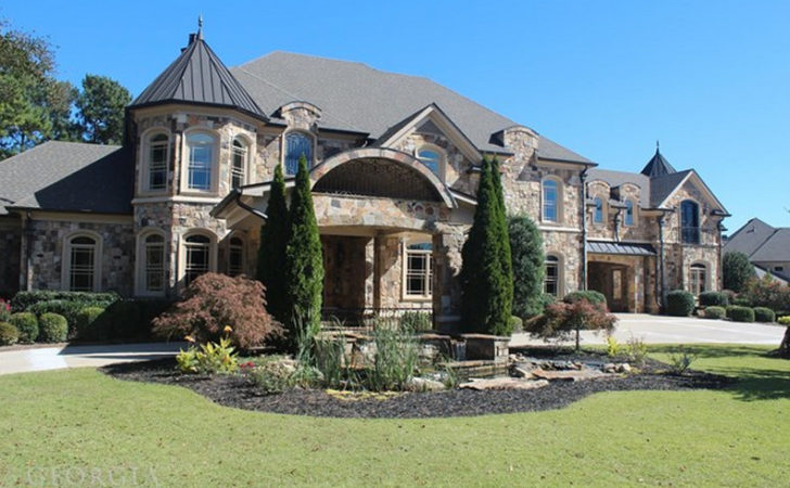 Square Foot Stone Mansion Braselton Homes