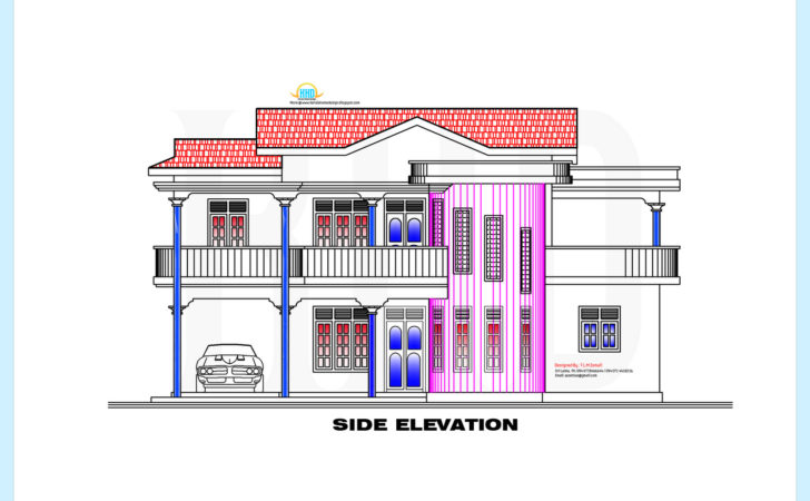 Srilankan Style Home Plan Elevation