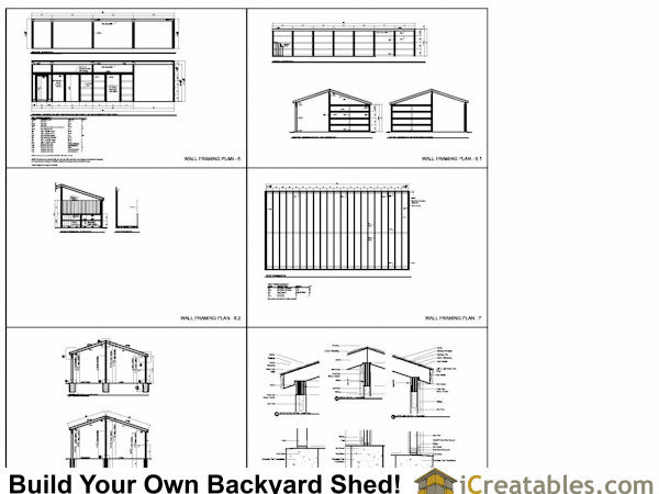 Stall Horse Barn Plans Lean Tack Room