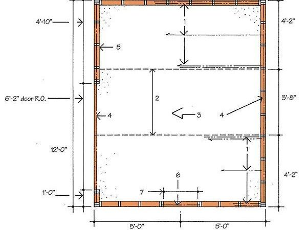 Storage Shed Building Plans Blueprints Gable Roof