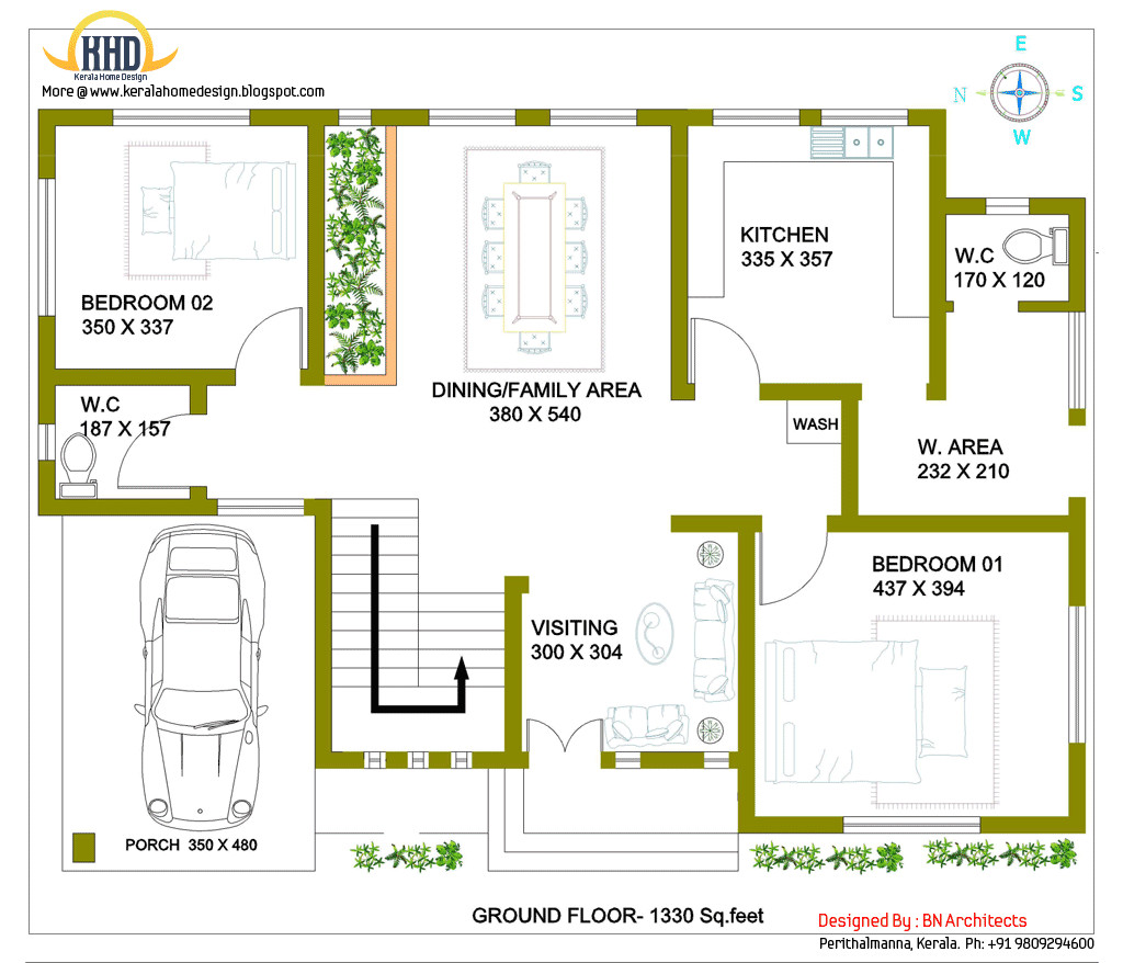Storey House Design Floor Plan Feet