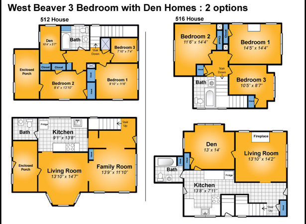 Story Apartment Floor Plans Bedroom Modern Townhomes