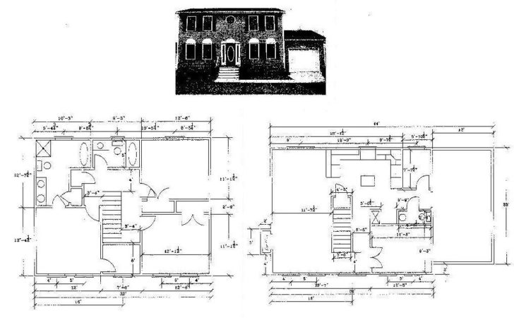 Story Colonial House Plans