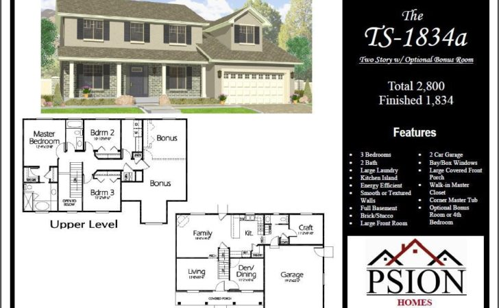 Story Floor Plans Psion Homes Home