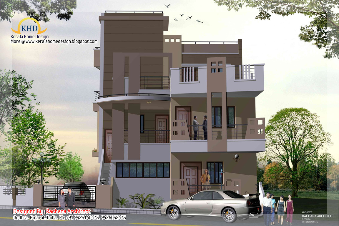 Story House Plan Elevation Home