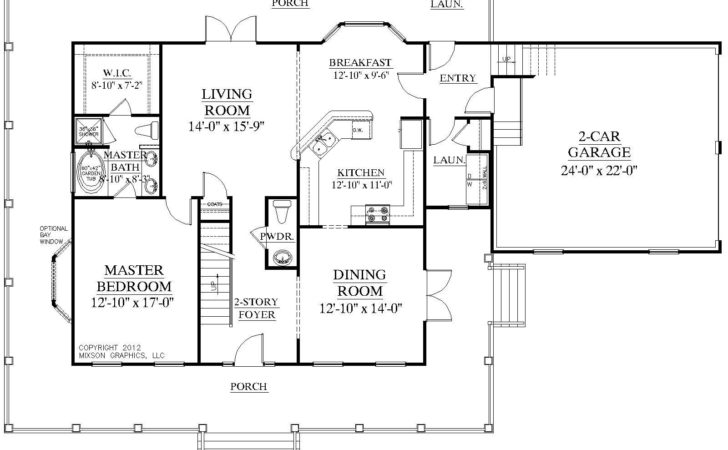 Story House Plans First Floor Master