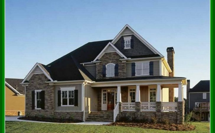 Story House Plans Front Porch Design Idea Home