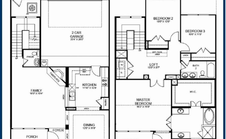 Story House Plans Small Footprint