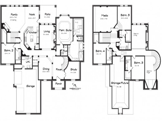 Story Modern House Plans Basement Exciting Two Home