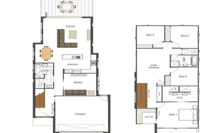 Stunning Narrow House Plans Home Building