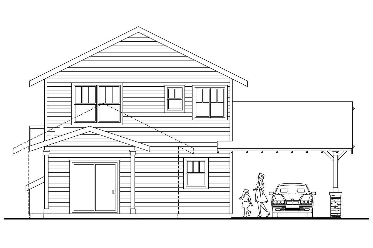 Surprisingly Narrow Lot House Plans Rear Garage