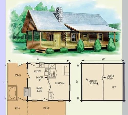 Take Look These Small Log Cabin Floor Plans