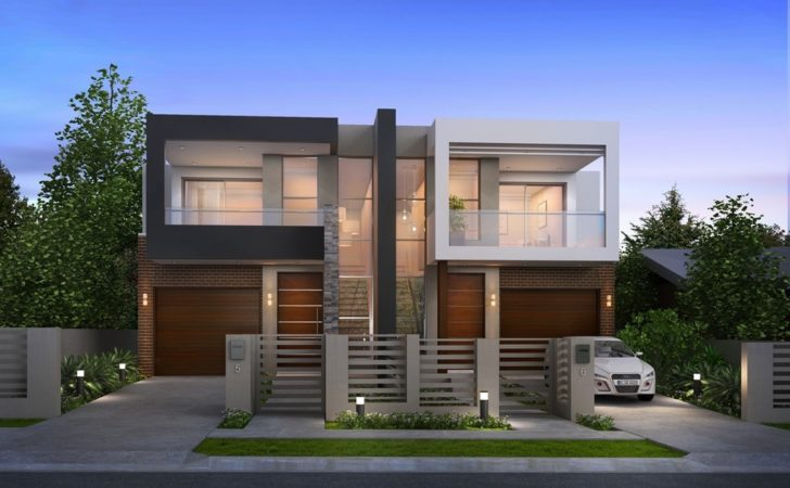 Taking Look Modern Duplex House Plans