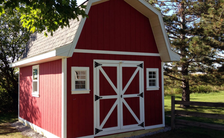 Tall Barn Style Gambrel Roof Shed Plans