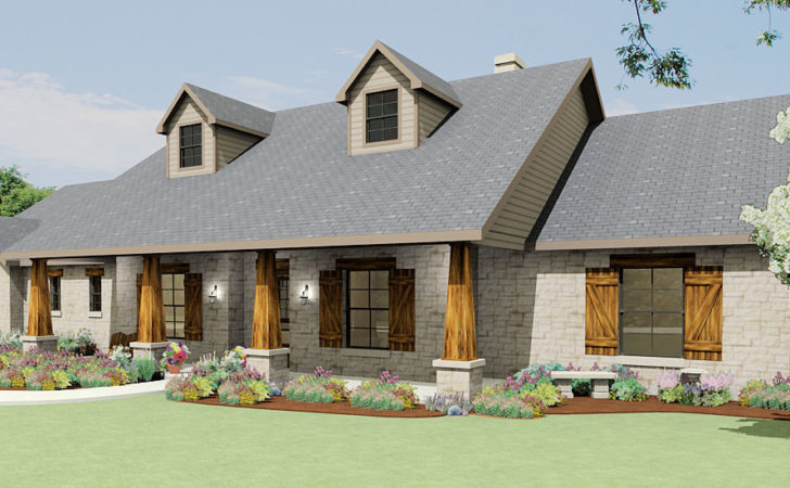 Texas Hill Country Ranch House Plans Over