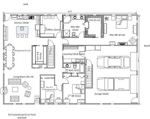 Think Floor Plan Work Rectangle House