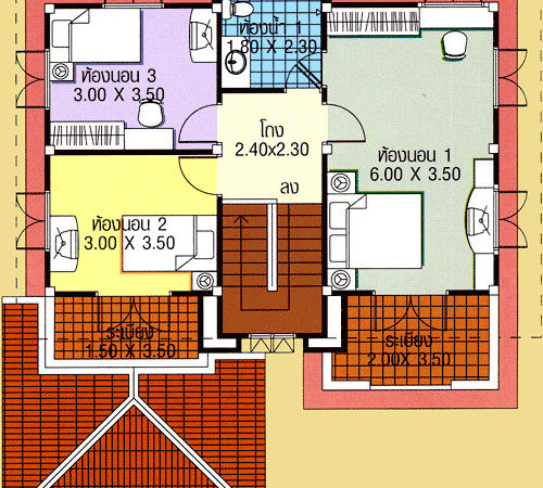 Three Bedroom House Plans Two Story All India