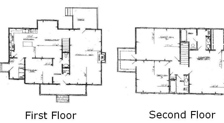 Three Bedroom House Plans Two Story Home Deco