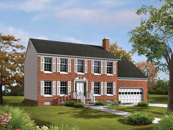 Tidewater Colonial Home Plan House Plans More
