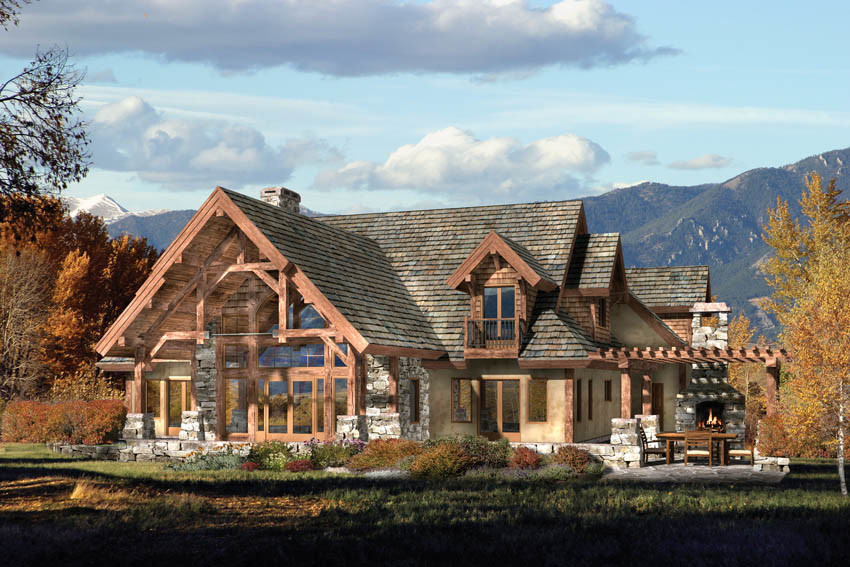 Timber Log Home Plans Timberframe Find House