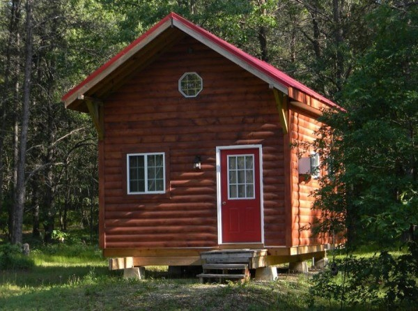 Tiny Cabin Built Father Son Now Sale