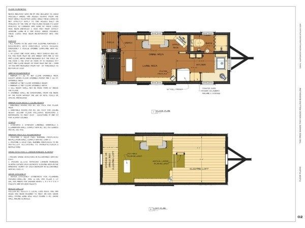 Tiny House Plans Rolling Bungalow